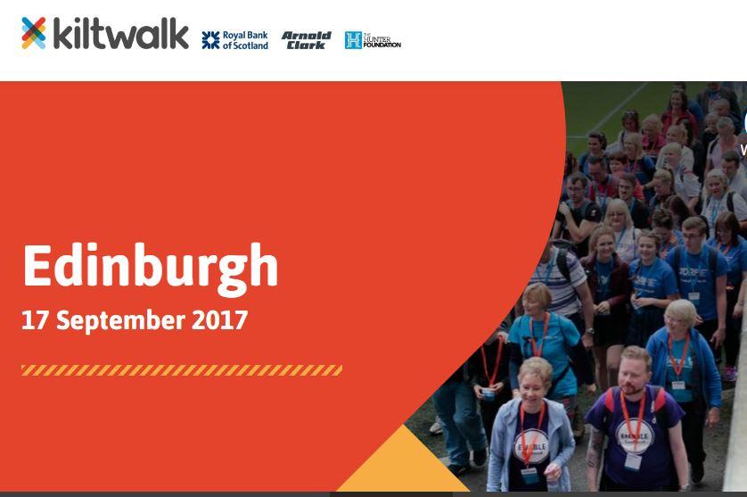 Kiltwalk webpage