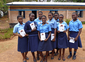 Group of schoolgirls in Malawi